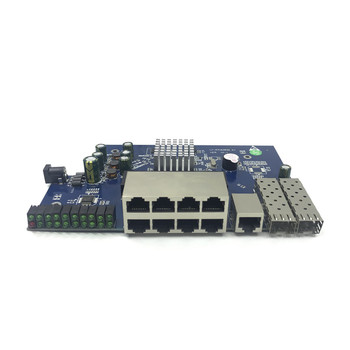 IP Management 8-port 10/100/1000Mbps PoE Ethernet Switch Module Managed Switch Module with 2 Gigabit SFP Slots gigabit switch