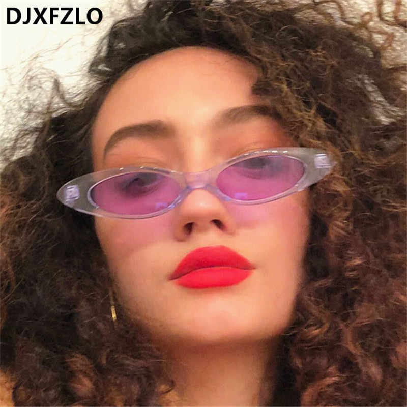 0901831aa6 DJXFZLO New Fashion Cute Sexy Ladies Cat Eye Sunglasses Women Brand  Designer Small Sun Glasses Female