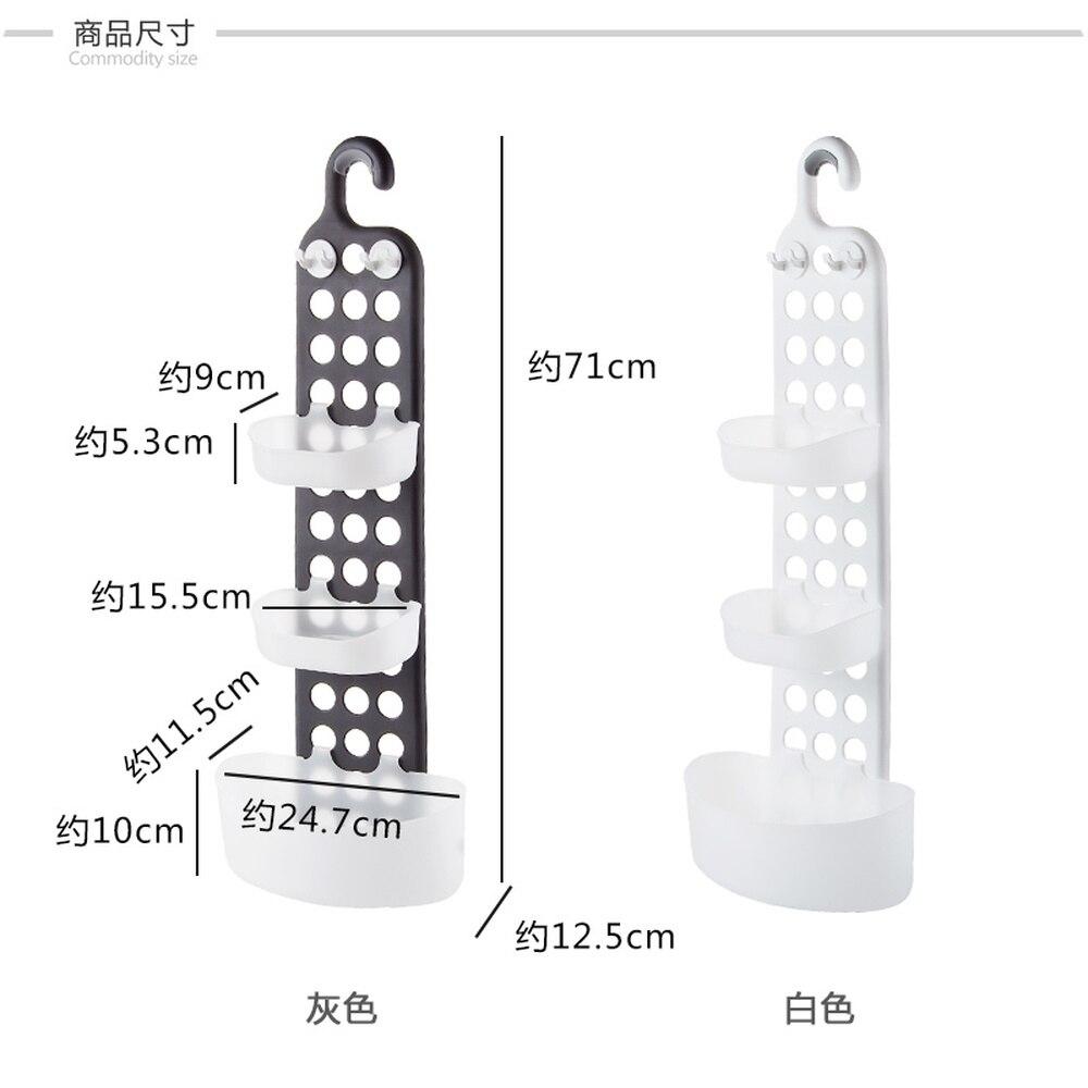 A1 1 estante de ducha sin perforaciones estante de lavado de pared de baño estante de almacenamiento de drenaje de ducha wx9031055 - 4