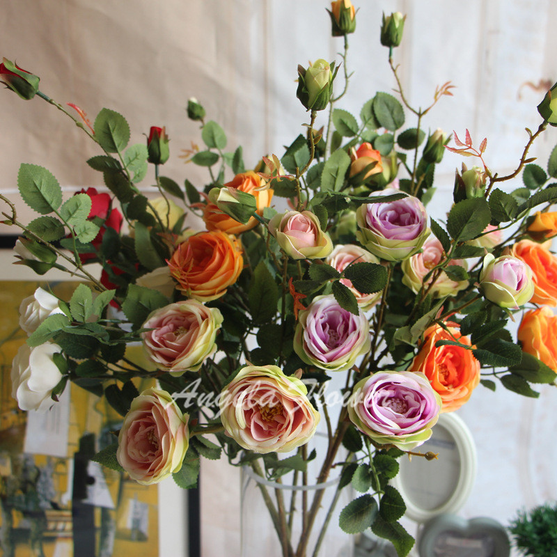 Cherry Blossom Dogwood Tulip Lt Br Gt Silk Flower Arrangement