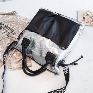 Image 4 - Topashine Bolso de gran capacidad para mujer, bolsa de compras de moda, dos bolsillos, informal, 2019