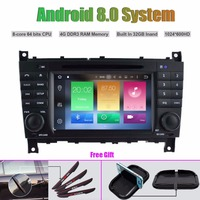 Octa Core Android 8.0 CAR DVD Player for MERCEDES BENZ C CLASS (2004 2007)/CLC W203 (2008 10)/G Class W467(2005 2007)