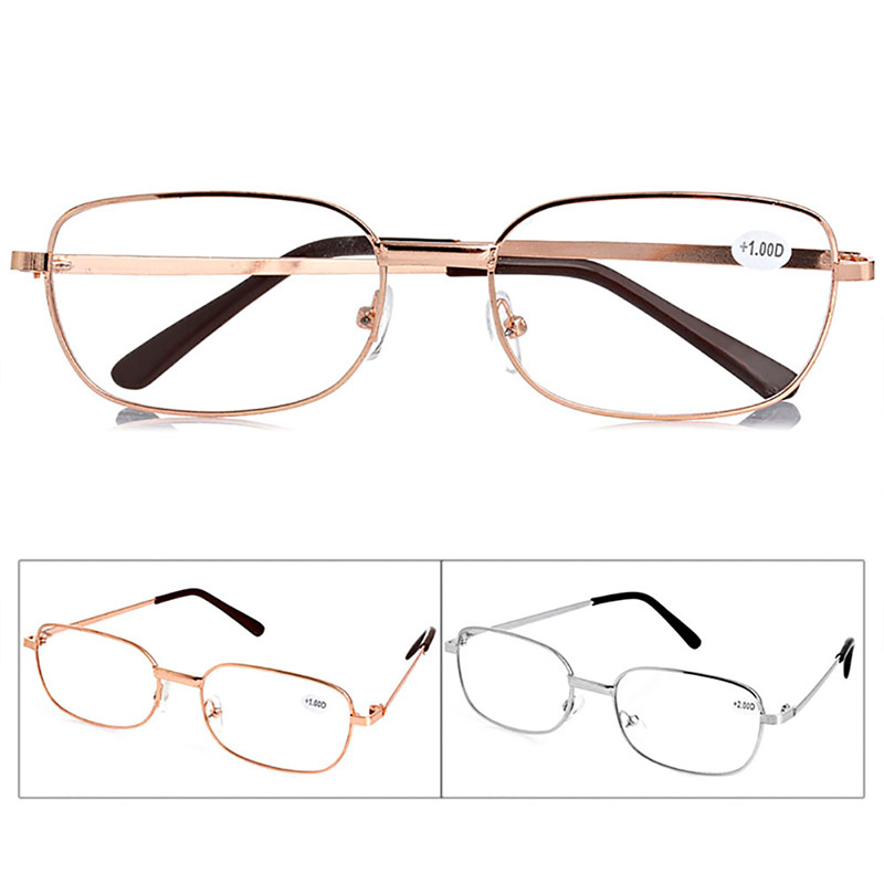 1 pc metal anti fatigue reading glasses 1 00 1 50 2 00 2