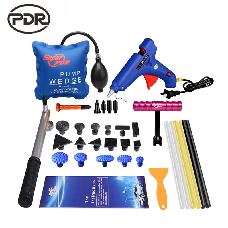 PDR Tools Kit Dent Puller Tabs Suction Cups Glue Tabs Mini Lifter Pump Wedge Tap Down Tools For Dent Removal Car Dent Repair  35pcs pdr tools car dent remover kit dent lifter paintless dent hail glue pdr tool kit pdr pro tabs tap down bridge puller