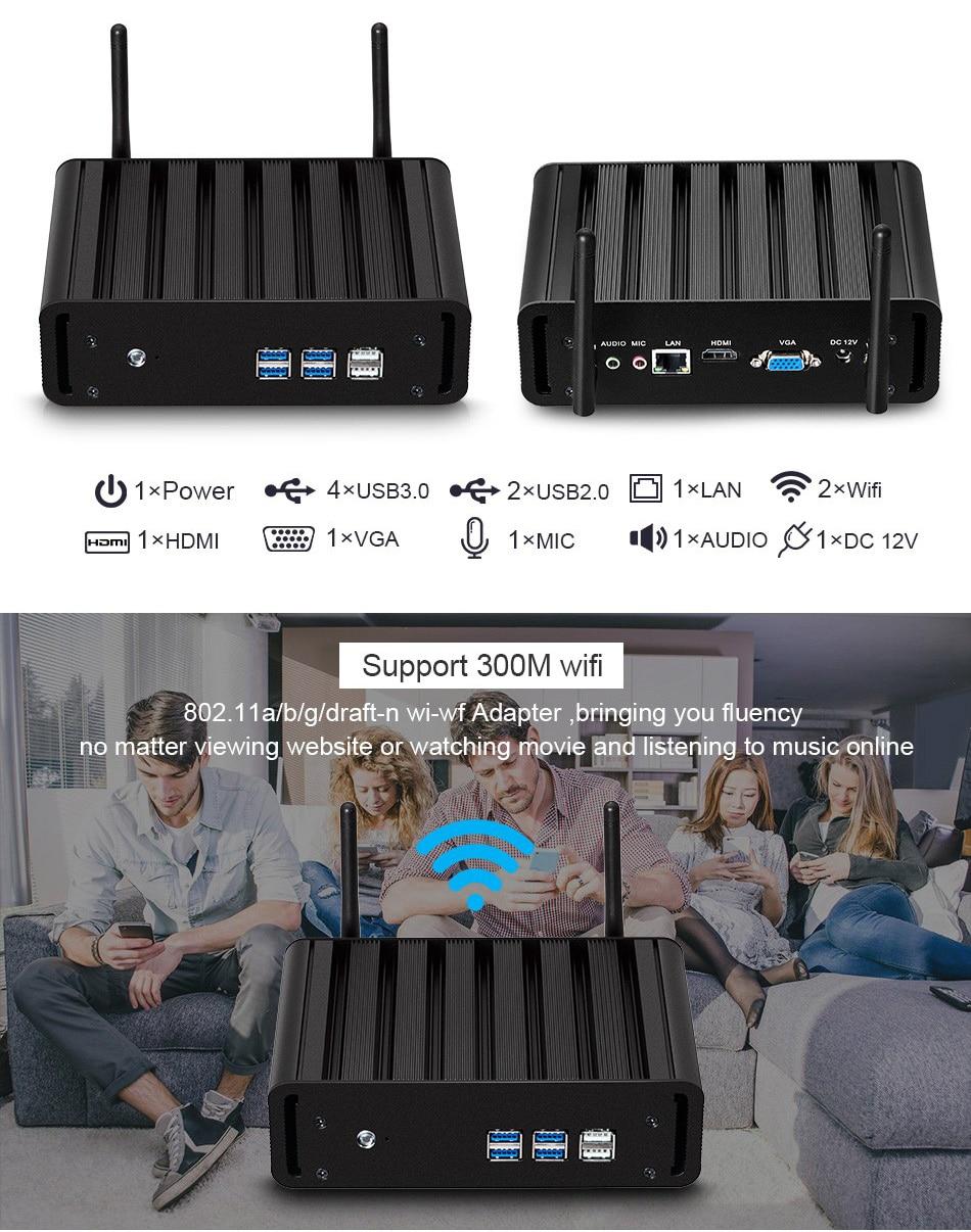 Intel Core I7 7500u I5 7200u I3 7100u Mini Pc Windows 10 Mini Computer 8gb Ram 240gb Ssd 4k Htpc Hdmi Vga Wifi Gigabit Lan #5