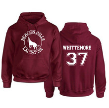 Teen Wolf Stiles Stilimski 24 Hoodie Women's Beacon Hills Lacrosse Lady Hoodies Girl Maroon Full Pullovers Sweatshirt Euro Size