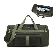 Large Travel Duffel Bag 11x11.5x22 inch with 55L Capacity Polyester Travel Duffle Bags Foldable Bag Single Shoulder Strap