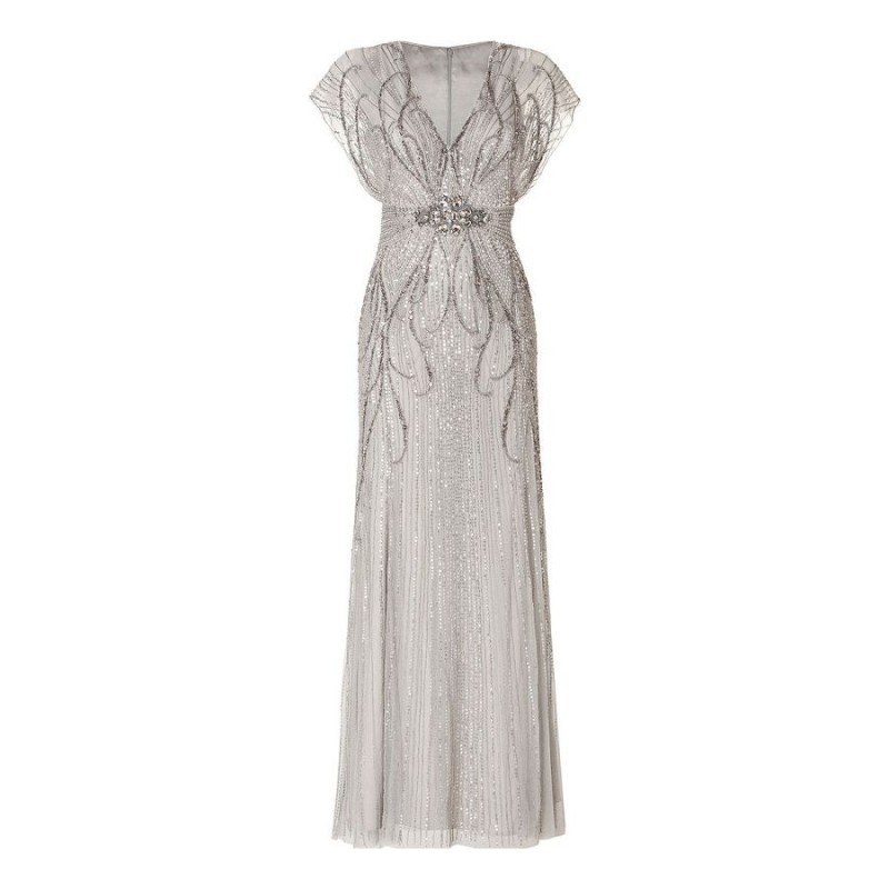 Glamorous robes Great Gatsby Robe formelle longue Robe De soirée Femme Abendkleider 2015 dames perles cristal