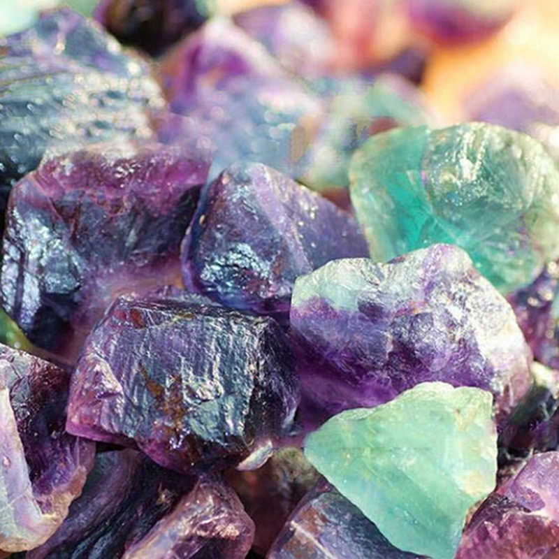 קריסטל טבעי פלואוריט אבן 1.5-65CM צבעוני פסים פלואוריט קוורץ קריסטל סטון פוינט ריפוי שרביט טיפול אבן