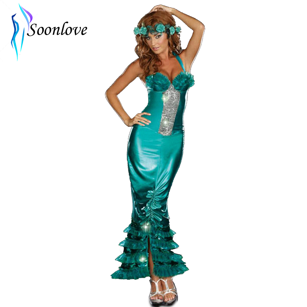 Fairy Tales And Legends Idea Halloween Sequin Sexy Sea