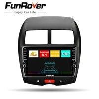 Funrover android 8,1 Octa 8 ядра Штатное Головное устройство Mitsubishi ASX 2010 2018 GPS aвтомагнитола маг нитола 2 din автомагнитолы Андроид для Митсубиши ASX аксессу