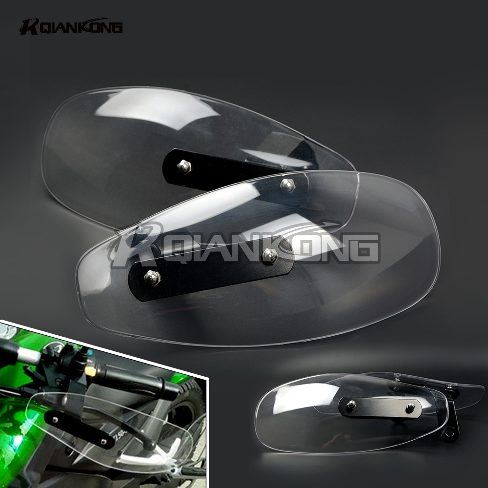R QIANKONG Clear Windshield Hand Guards Protector Wind Deflector Shield For KTM 640 LC4 690 SMC MV Agusta Brutale 989R 920 990 головка триммерная wind 5 dde 640 131