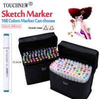 TOUCHNEW 30 40 60 80 Colors Dual Head Art Marker Set Alcohol Sketch Markers Pen For