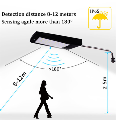 a energia solar sensor de movimento luz