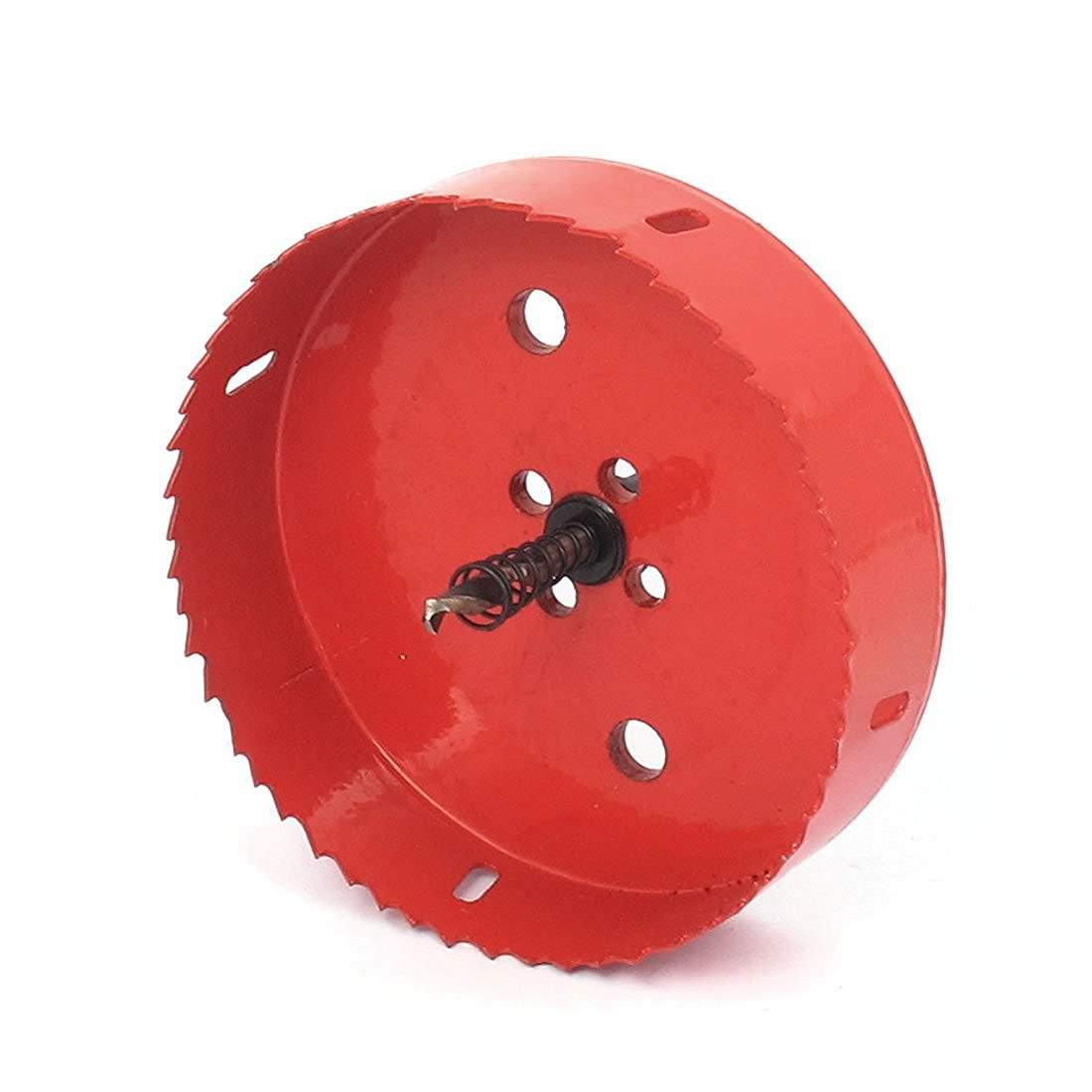 6mm Drill Bit 130mm Cutting Diameter Hole Saw Red for Drilling Wood