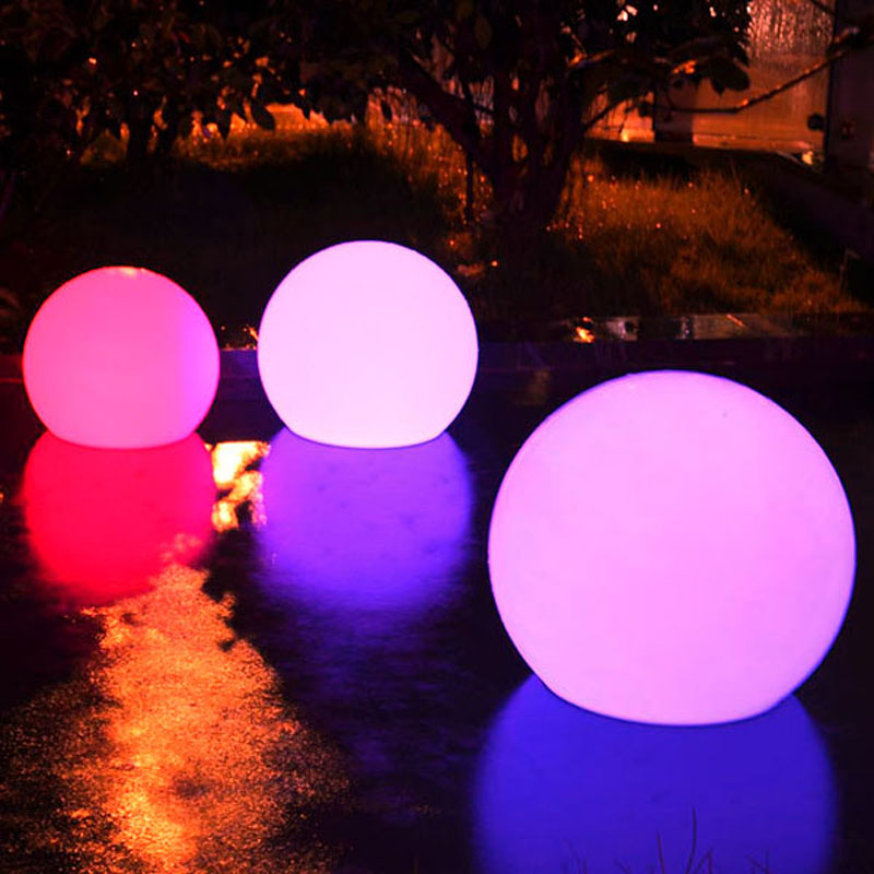 D35cm waterproof IP65 Swimming pool floating led ball for Christmas Decoration waterproof ip65 led ball 15 15 15cm water floating pool lighting ball for christmas decoration free shipping