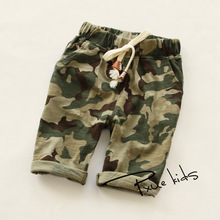 2016 new summer baby Girls boy Kid Haren Cotton Camouflage Shorts Korean Children's Clothing Retail wholesale 6 Color good