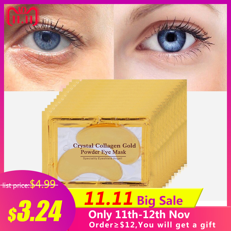 10pair Beauty Gold Crystal Collagen Eye Mask Hotsale Eye Patches Moisturizing Eye Mask Anti-Aging Face Masks Skin Care Eye Cream 10pcs beauty gold crystal collagen eye mask eye patches moisture anti aging acne skin care patches for eye korean cosmetics