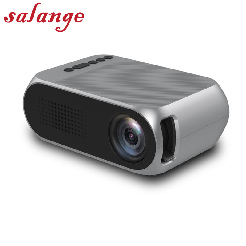 YG320 Mini Portable LCD Projector Home Theater Proyector USB SD AV HDMI 400 Lumens 1080P HD LED Portable Projector uc40 55whd 1080p mini home 1080p led projector 50lm w hdmi av sd usb