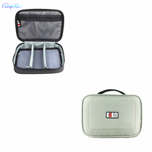 1Pcs Gray 16*23.5*7cm Storage Bag For Cable Wires Of Telephone,Digital camera,Arduous Disk,U-Disk