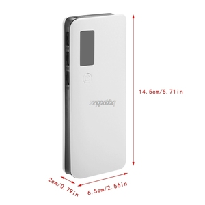 Image 5 - 3 Cổng USB 5X18650 DIY Pin Di Động Giá Đỡ Màn Hình LCD Màn Hình Hiển Thị Công Suất Ngân Hàng Hộp Ốp Lưng Whosale & Trang Sức Giọt