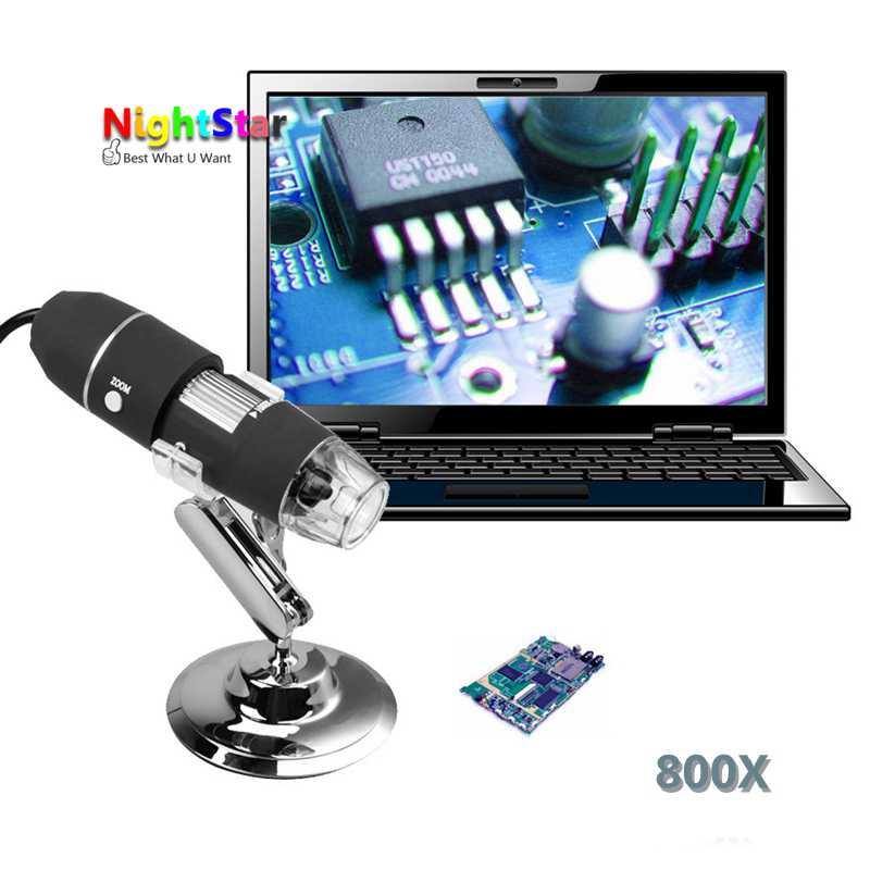8LED Light 800X USB font b Digital b font font b Microscope b font Endoscope Magnifier