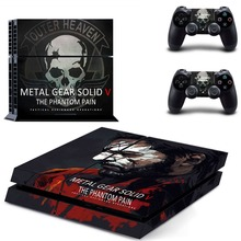 Metal Gear Solid Vinyl Cover Decal PS4 Skin Sticker for Sony PlayStation 4 Console & 2 Controller Skins Stickers