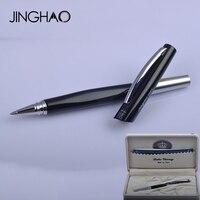 Unique Design Luxury Duke Rollerball Pen Black Silver Metal 0 5mm Black Ink Gift Pens Writing