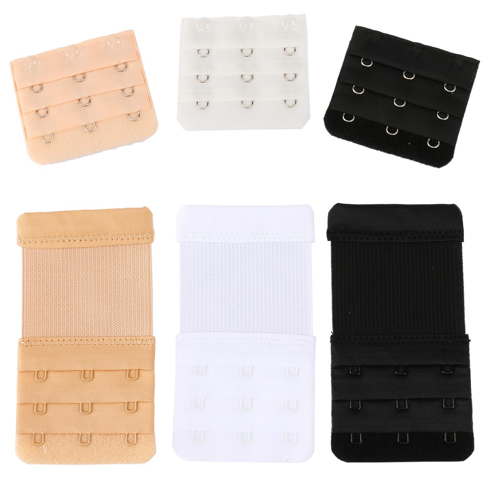Closecret Women's Bra Back Strap Extenders 3 Hooks 3 Rows (Pack of 6) 6