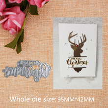 Merry Christmas Metal Cutting Dies New Stencils for DIY Scrapbooking  Paper Cards Craft Making and Craft  Decoration 95*42mm пуговицы diy 42mm