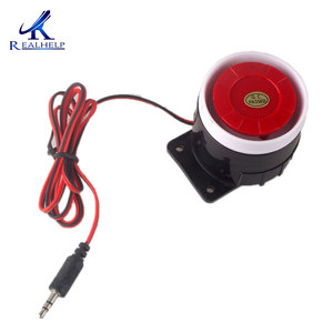 Image 3 - Red & Black Mini Wired 72 Mm Kabel 120dB Luid Sirene Hoorn Voor Home Security Sound Alarmsysteem DC12V 24V 5V Bescherming Voor Thuis