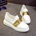 Spring Autumn New Casual Shoes High-Quality Fashion Breathable Student Golden Women Shoes Loafer Mujeres Zapatos
