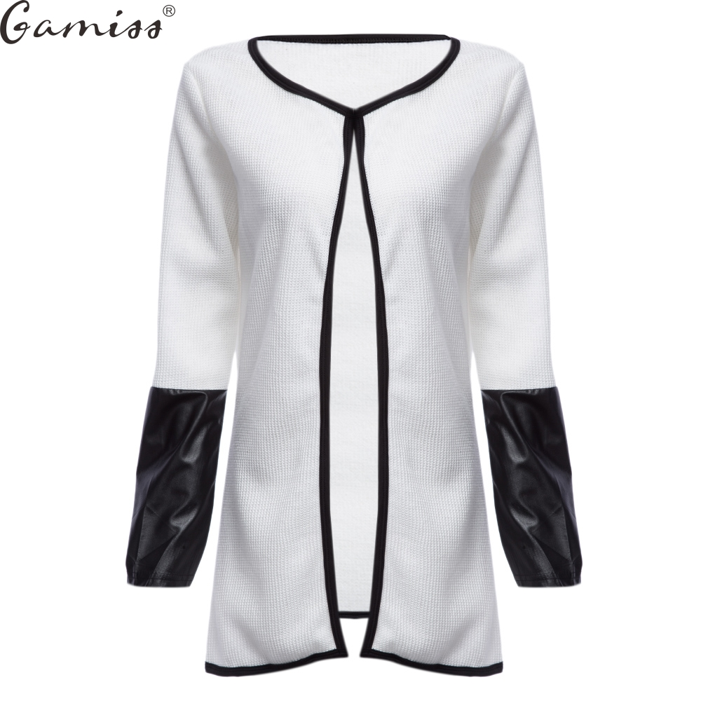 3f1da311aa01e Gamiss Trendy Collarless 3 4 Sleeve Single Breast Button Casual Crochet  Poncho Plus Size Coat Women Sweaters Vestidos Cardigans-in Cardigans from  Women s ...