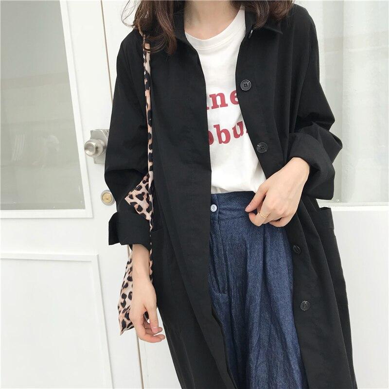 Women Autumn Long Sleeve cloak Long Trench Coat Female Pocket cardigan Straight Shirt Windbreaker Manteau Femme Hiver Overcoat 16