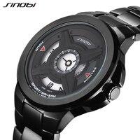 SINOBI Mens Watch Luxury Brand Full Metal Casual Wrist Watches 2017 New Top Creative Watches Relogio