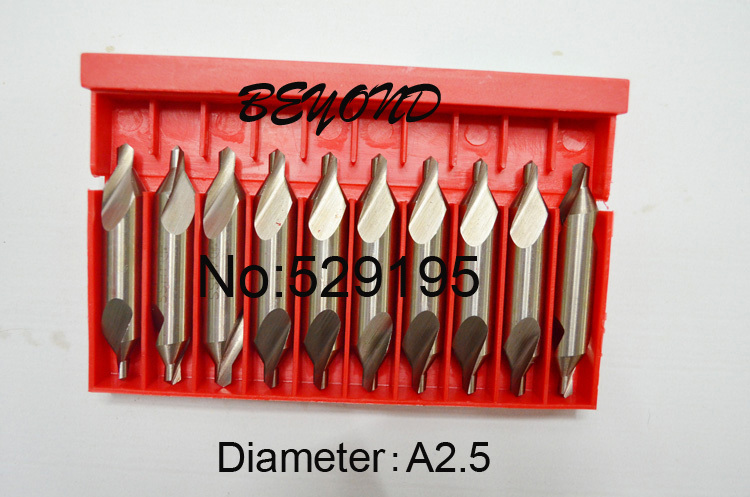 A2.5 Brand New 10 A-Type Factory direct sales, a large quantity favorably Centre Drill Countersinks Bit Set Pilot Drill Bit factory outlets opening film ru ru tea sets italics kit logo new custom large favorably