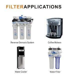 """Image 5 - Картриджи для обратного осмоса (RO), Сменные картриджи для водяного фильтра, встроенный фильтр серебристый, пропитанный углеродом, 10 """"L x 2"""" OD"""