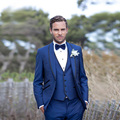 2016 Carbón Italiano Trajes Esmoquin De la boda trajes de Chaqueta + Pants + Tie + Chaleco personalizado esmoquin esmoquin para hombres vestido de Fiesta mejores trajes de hombre