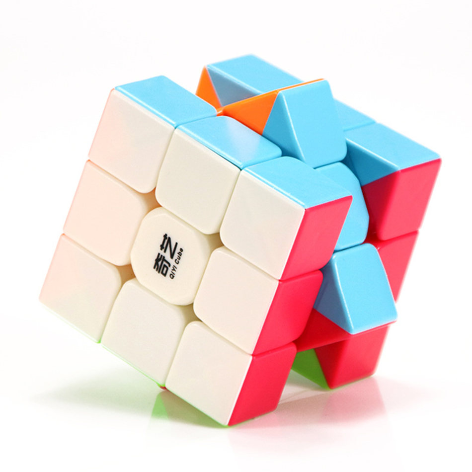 Qiyi 3x3 Cube Warrior W 3x3x3 Magic Cube New Warrior W 3 Layers Stickerless Speed Cube Professional Puzzle Toys For Children Kid