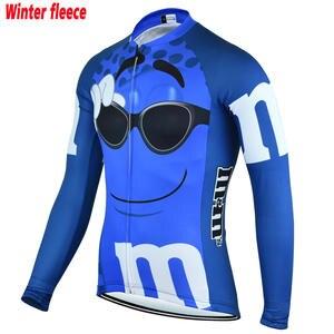 Men Blue   Red Jersey-Long Sleeve cycling jersey heat Winter Fleece   no  Fleece cd89021b7
