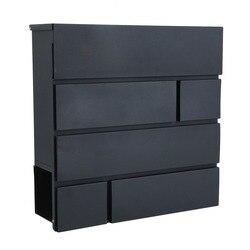 38x38x11 cm montado en la pared buzón de correo ligero buzón portátil cerradura Buzón de galvanización con 0,6mm de la pared carta de la Caja
