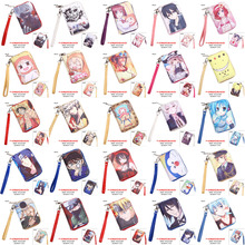 Anime Tokyo Goul/One Piece/Naruto/Conan/Date A Live/Hatsune Miku/Sword Art Online/Black Butler etc PU Short Wallet WIth Zipper