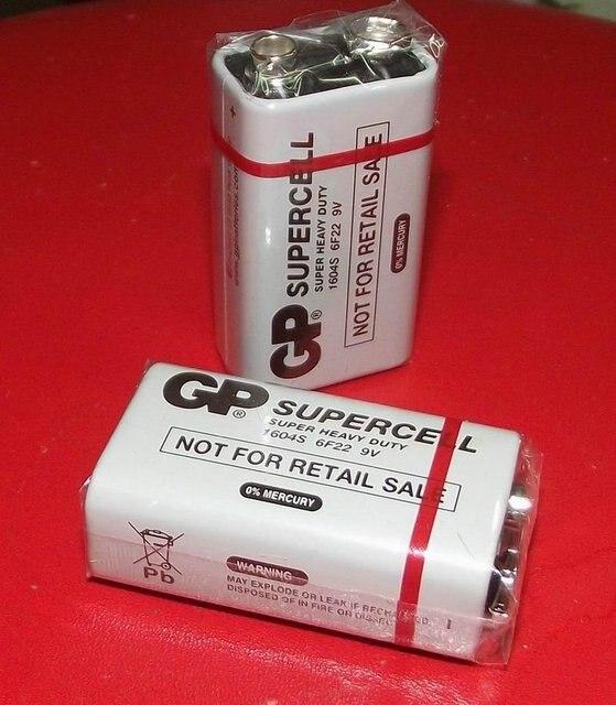 Оптовая продажа 10 шт./лот GP 9 В 6F22 1604 S тяжелых Батарея Батареи для Камера Игрушечные лошадки пульт дистанционного управления