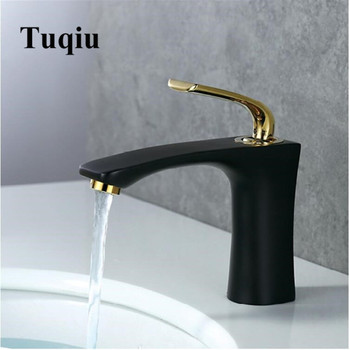 Basin Faucets  Gold white Bathroom Sink Faucets Single Handle Hot Cold Wash Mixer Water Tap lavatory water mixer
