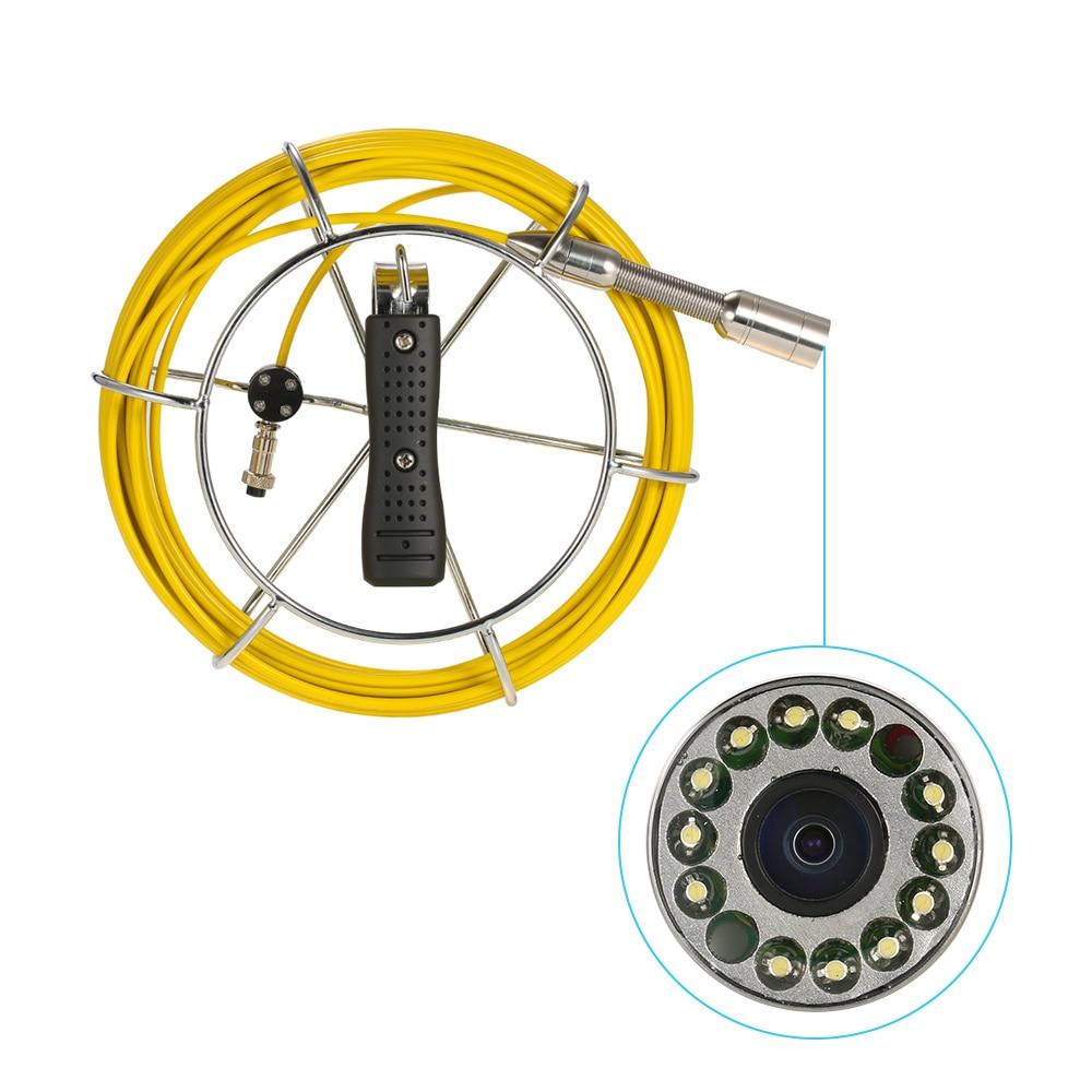Lixada 30 M égout Endoscope tuyau de vidange Inspection vidéo caméra Pipeline Endoscope industriel Vision nocturne caméra avec 12 LED - 4
