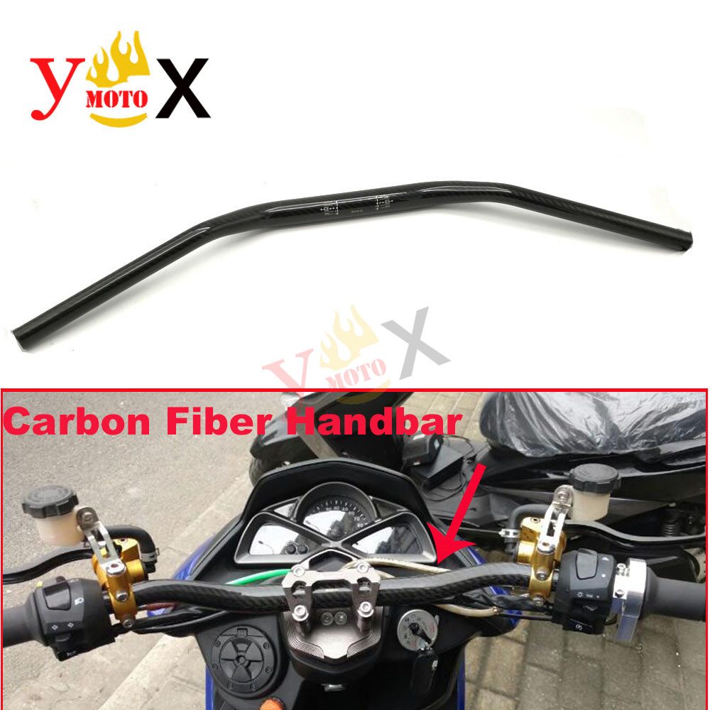 Motorcycle Carbon Fiber 1 1 8 28MM Fat Bar 22MM Handlebar End Drag Handle Bar Pit