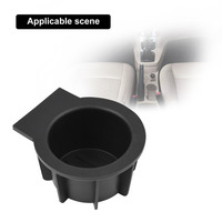 New 2PCS Universal Drink Cup Holder Insert Rubber For Ford F 150 Expedition Navigator OEM Replacement