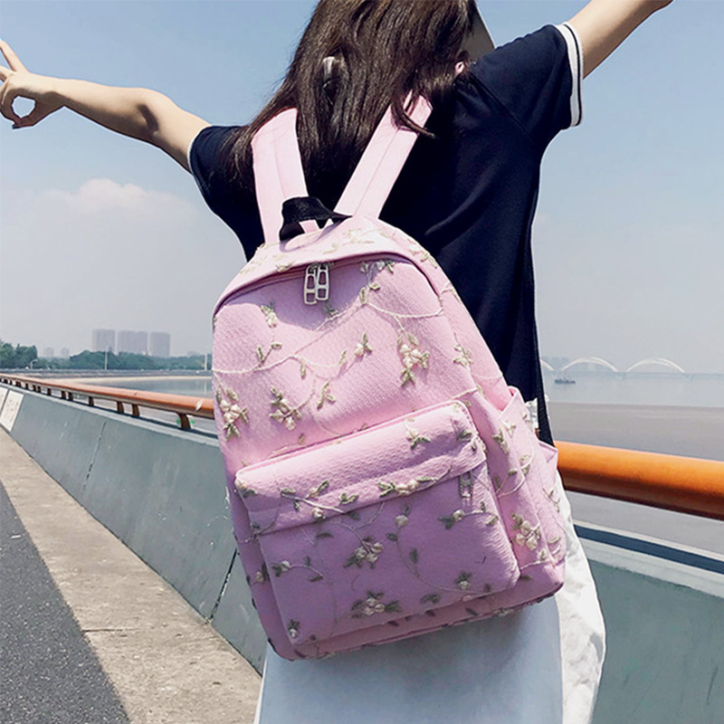 Anreisha Canvas Backpack Women Female Schoolbags Backpacks For Teenage Girls Casual Travel Backpacking Knapsack College Rucksack спортивные наушники вкладыши sony mdr xb510 as r