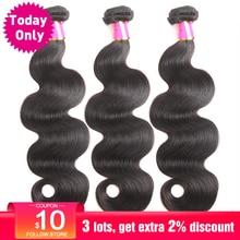 TODAY ONLY 1 3 4 Bundles Brazilian Body Wave Bundles Brazilian Hair Weave Bundles Remy Human