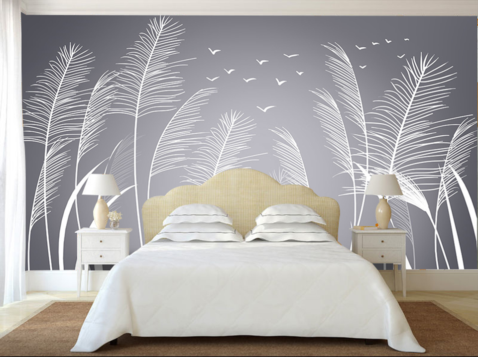 Home Decor 3 d wallpapers murals nature reeds photo wallpaper for living room bedroom tv sofa background paper mural 3d entrance waterfall photo wallpaper mural wallpapers for living room bedroom 3 d wall paper murals murales para pared